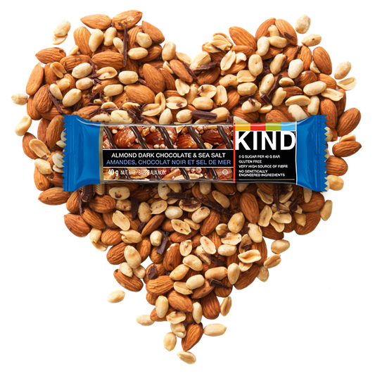 KIND Almond Dark Chocolate & Sea Salt Bar Heart